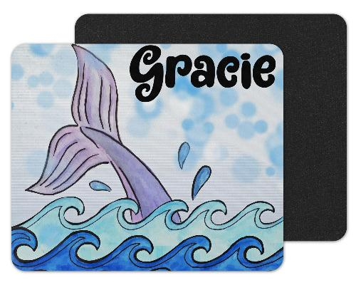 Mermaid Custom Personalized Mouse Pad - Sew Lucky Embroidery