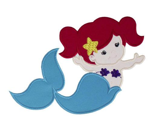 Mermaid Patch - Sew Lucky Embroidery