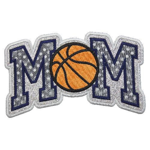 MOM Basketball Patch - Sew Lucky Embroidery