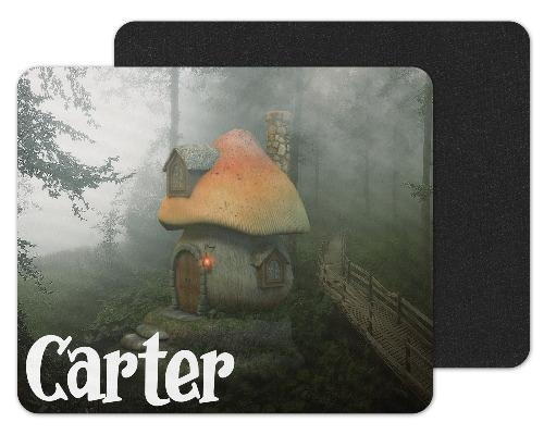 Mushroom House Custom Personalized Mouse Pad - Sew Lucky Embroidery