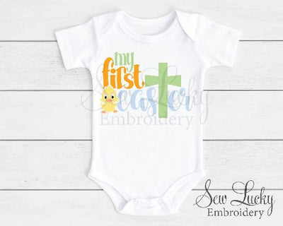 My First Easter boys baby bodysuit