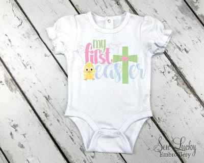 My First Easter girls baby bodysuit