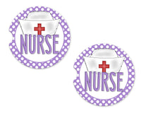 Nurse Sandstone Car Coasters - Sew Lucky Embroidery