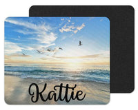 Oceans and Seagulls Custom Personalized Mouse Pad - Sew Lucky Embroidery