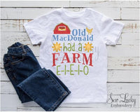 Old MacDonald had a Farm Shirt - Sew Lucky Embroidery