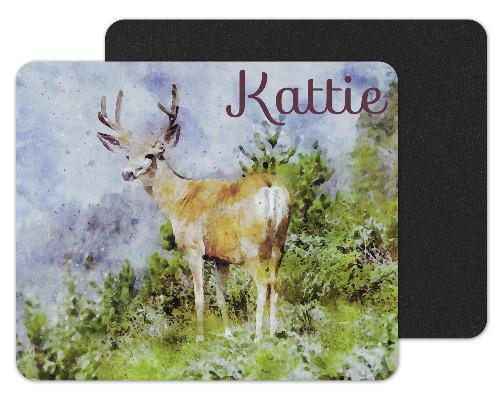 Painted Elk Custom Personalized Mouse Pad - Sew Lucky Embroidery