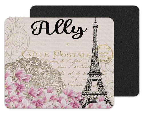 Paris Custom Personalized Mouse Pad - Sew Lucky Embroidery
