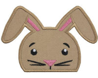 Peeking Bunny Patch - Sew Lucky Embroidery