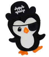 Penguin Pirate Patch - Sew Lucky Embroidery