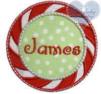 Peppermint Candy Name Patch