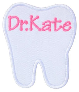 Personalized Tooth Patch - Sew Lucky Embroidery