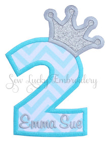Princess Birthday Personalized Number Patch