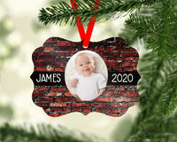 Photo Christmas Ornament Personalized - Sew Lucky Embroidery