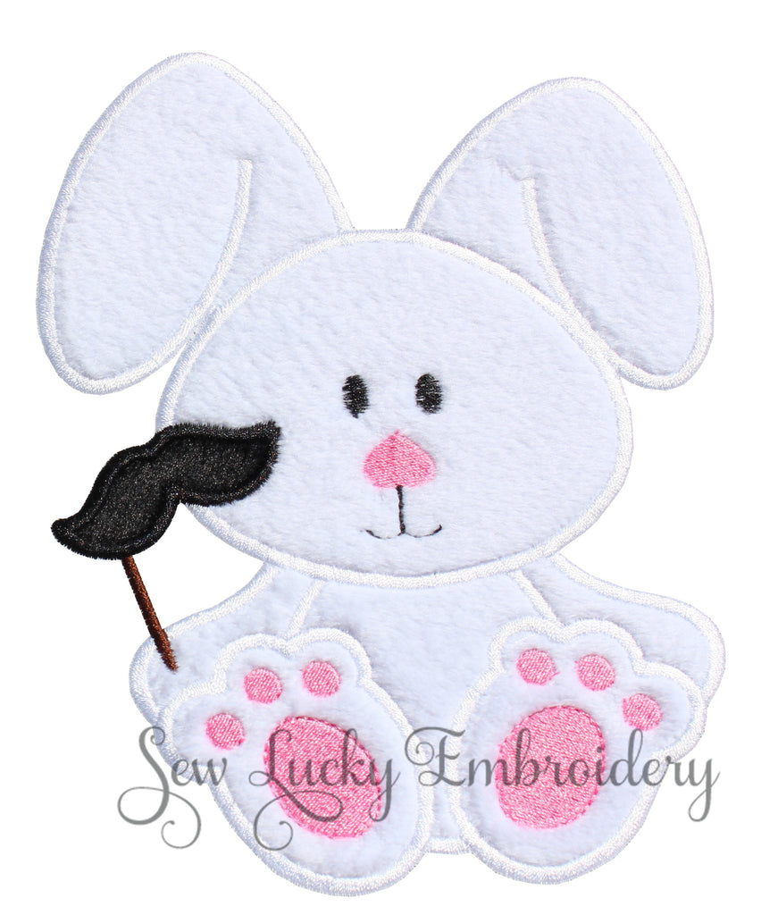 Mustache Bunny Patch