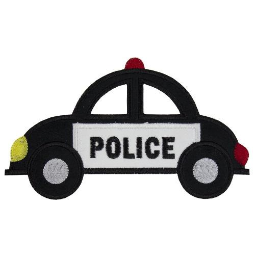 Police Car Patch - Sew Lucky Embroidery