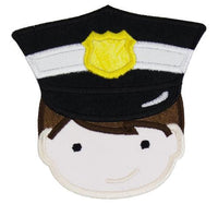 Policeman Patch - Sew Lucky Embroidery