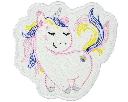 Pretty Unicorn Patch - Sew Lucky Embroidery