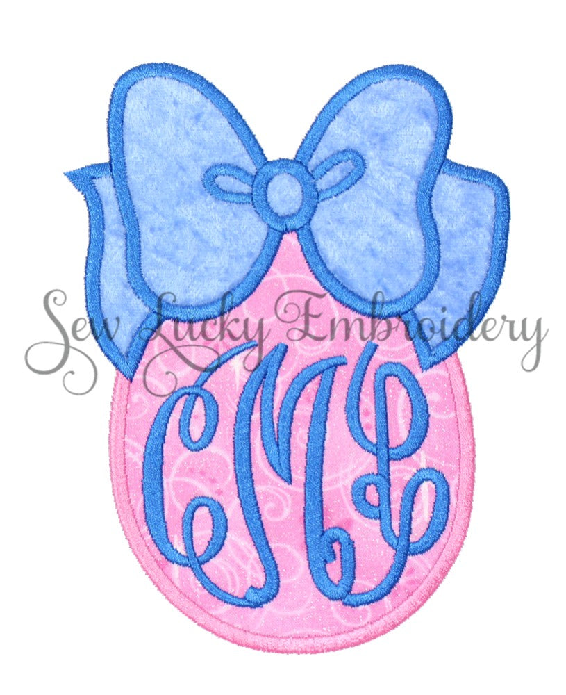 Pretty Princess Easter Egg Monogrammed Patch