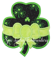 Shamrock with Bow Patch