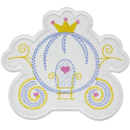 Princess Carriage Patch - Sew Lucky Embroidery