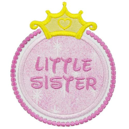 Princess Little Sister Symbol Patch - Sew Lucky Embroidery