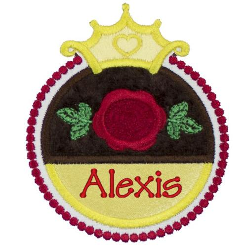 Princess Rose Symbol Patch - Sew Lucky Embroidery