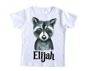 Raccoon Personalized Shirt - Sew Lucky Embroidery