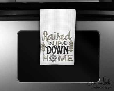 Raised up Down Home Waffle Weave Microfiber Kitchen Towel