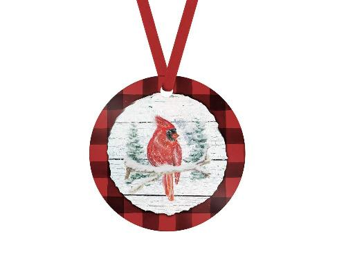 Red Cardinal Christmas Ornament - Sew Lucky Embroidery