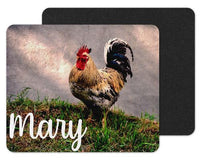 Rooster in Grass Custom Personalized Mouse Pad - Sew Lucky Embroidery