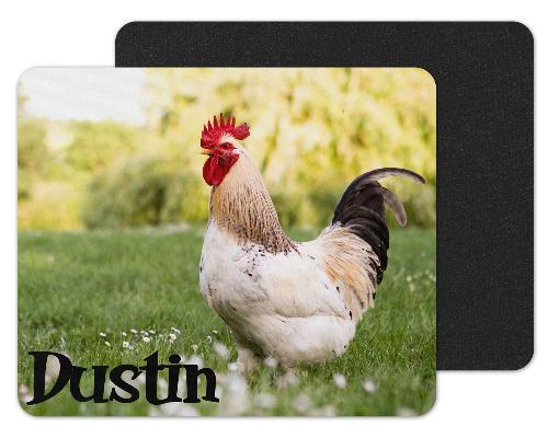 Rooster Personalized Custom Mouse Pad - Sew Lucky Embroidery