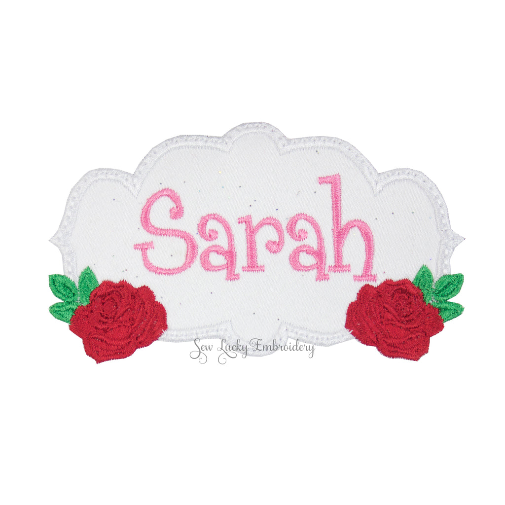 Rose Name Patch