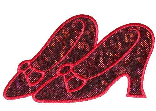 Ruby Slippers Patch - Sew Lucky Embroidery