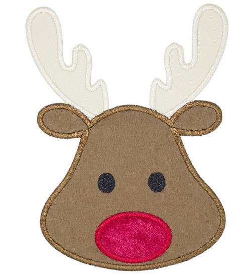 Rudolph Patch - Sew Lucky Embroidery