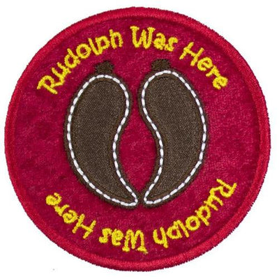 Rudolph Reindeer Tracks Patch