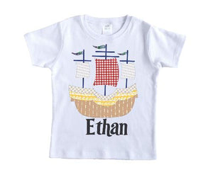 Sailboat Personalized Shirt - Sew Lucky Embroidery
