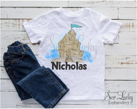 Sand Castle Personalized Shirt - Sew Lucky Embroidery