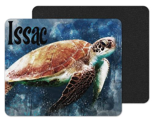 Sea Turtle Custom Personalized Mouse Pad - Sew Lucky Embroidery