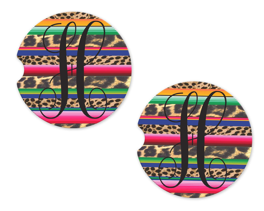 Serape Sandstone Car Coasters - Sew Lucky Embroidery