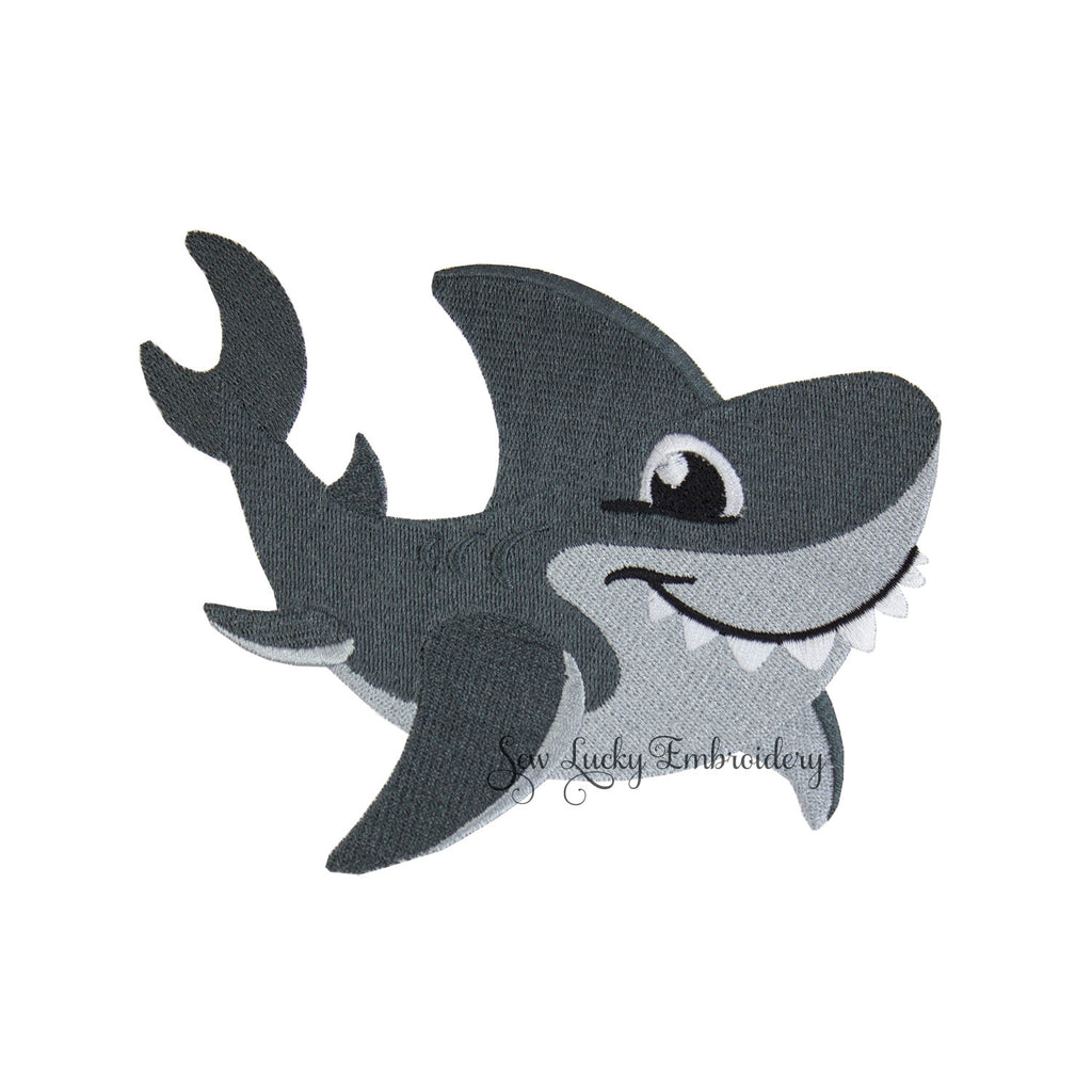 Smiling Gray Shark Patch