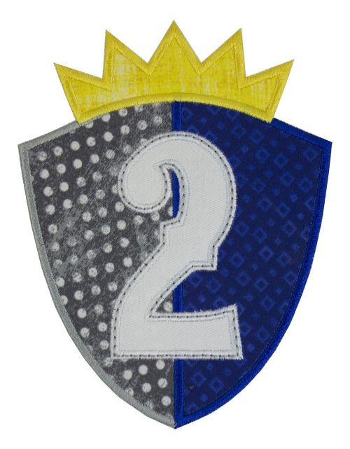 Shield Birthday Number Patch - Sew Lucky Embroidery