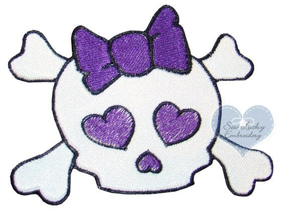 Girly Skull Patch