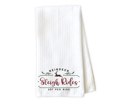 Sleigh Rides Waffle Weave Microfiber Kitchen Towel