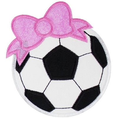 Soccer Ball with Pink Bow Patch