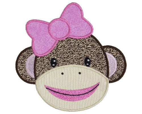 Sock Monkey Patch - Sew Lucky Embroidery