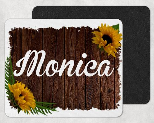 Sunflower Custom Personalized Mouse Pad - Sew Lucky Embroidery