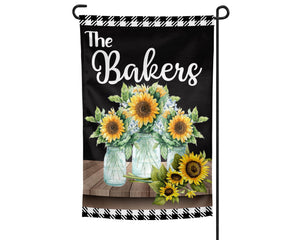 Sunflowers Personalized Garden Flag