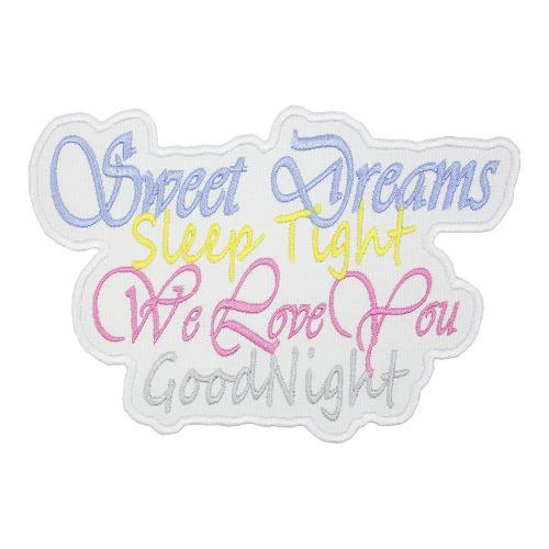 Sweet Dreams Patch - Sew Lucky Embroidery