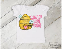 Sweeter Than Honey Girls Shirt - Sew Lucky Embroidery
