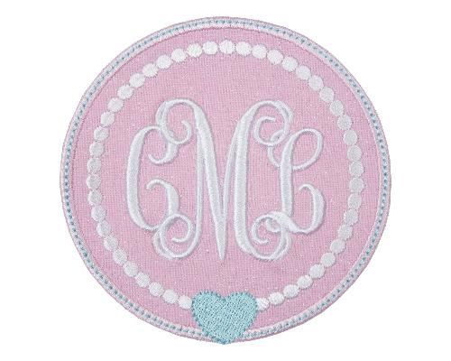 Sweetheart Monogram Patch - Sew Lucky Embroidery